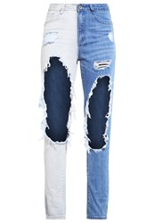 Missguided Riot Relaxed Fit Jeans Bleached Bleached Denim
