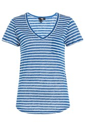 Paige Striped Linen T Shirt Gr. S