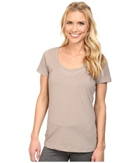 Lole Kiss Top Biscotti Heather Women's Short Sleeve Pullover Beige