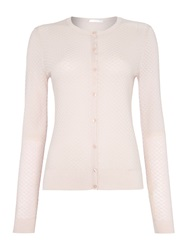 Hugo Boss Fae Textured Twinset Cardigan Pink