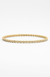 Melinda Maria 'Teeny' Pod Bangle Gold Clear