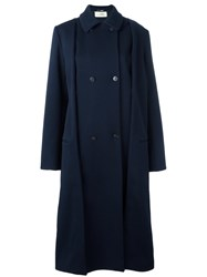 Ports 1961 Oversized Coat Blue