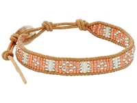 Chan Luu 6 Seed Bead Single Peach Mix Beige Bracelet Brown