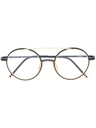 Thom Browne Round Frame Glasses Blue