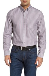 Cutter And Buck Men's 'Peak' Classic Fit Wrinkle Free Stripe Sport Shirt