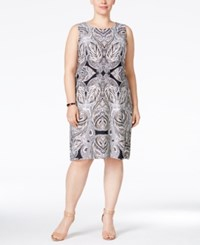 Charter Club Plus Size Paisley Print Shift Dress Only At Macy's Deep Black Combo