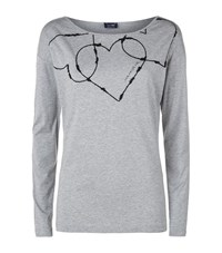 Armani Jeans Embroidered Heart Top Female Grey