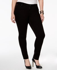 Slink Jeans Plus Size The Skinny Ankle Jeans Solid Black