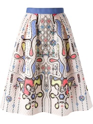 Peter Pilotto 'Circle' Skirt Pink And Purple