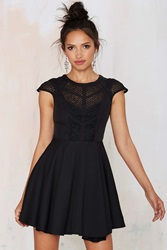 Nasty Gal Midnight Wanderer Fit And Flare Dress