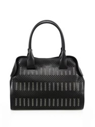 Tod's Cape Small Studded Laser Cut Leather Satchel