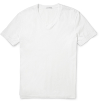 James Perse V Neck Cotton Jersey T Shirt White