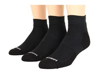 Wrightsock Dl Fuel Lo 3 Pair Black Black Low Cut Socks Shoes