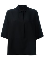 Piazza Sempione Three Quarter Sleeve Shirt Black