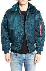 Alpha Industries Men's B 15 Flight Jacket Navy