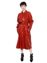 Isabel Marant Coated Cotton Trench Coat With Belt