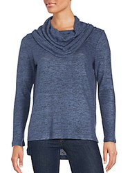 Saks Fifth Avenue High Low Cowlneck Pullover Light Grey