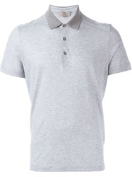 Canali Short Sleeve Polo Shirt Grey