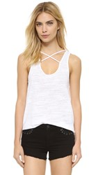 Lna Cross Strap Tank White
