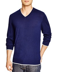 Robert Graham Nolan V Neck Sweater Bloomingdale's Exclusive Midnight Navy
