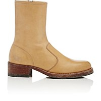 Maison Martin Margiela Women's Distressed High Cut Ankle Boots Tan