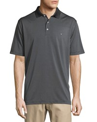 Callaway Printed Short Sleeve Polo Shirt Caviar Black