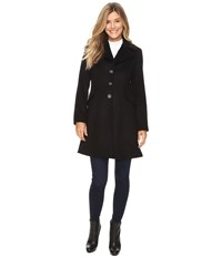 Pendleton Fit And Flare Coat Black Twill Women's Coat