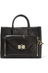 Diane Von Furstenberg Secret Agent Large Convertible Leather Tote Black