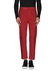 Daniele Alessandrini Homme Trousers Casual Trousers Men Maroon