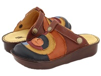 Spring Step Lollipop Blue Multi Leather Women's Clog Mule Shoes