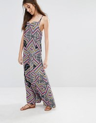 Diya Geometric Maxi Dress Multi