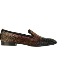 Louis Leeman Metallic Effect Loafers Black