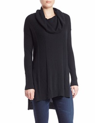 Buffalo David Bitton Cowl Neck Tunic Sweater Black