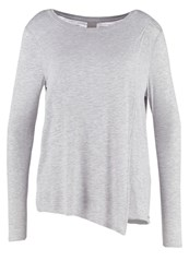 Bench Enunciation Long Sleeved Top Mid Grey Marl Mottled Grey