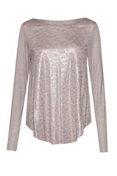 Great Plains Crystalline Jersey Long Sleeves T Shirt Pink