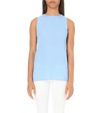 Warehouse Crepe Tunic Top Pale Blue