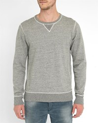 Scotch And Soda Grey Contrasting Embroidery Sweatshirt