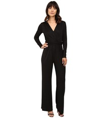 Tahari By Arthur S. Levine Sparkle Sleeved Jumpsuit With Stretch Black Women's Jumpsuit And Rompers One Piece