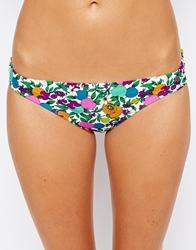 All About Eve Fruity Floral Ruffle Bikini Bottoms Fruityfloralwhite