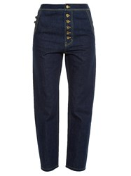 Ellery Monroe High Rise Slim Leg Jeans Dark Navy