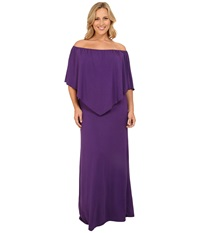 Culture Phit Plus Size Ayden Dress Dark Purple Women's Dress