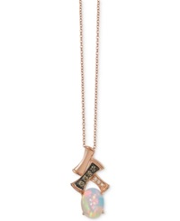 Le Vian Chocolatier Gladiator Opal 2 3 Ct. T.W. And Diamond Accent Pendant Necklace In 14K Rose Gold