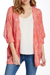 Romeo And Juliet Couture Open Knit Cardigan Pink