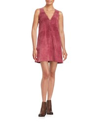 Free People Suede Shift Dress Red