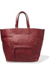 Jerome Dreyfuss Jacques Leather Tote Burgundy