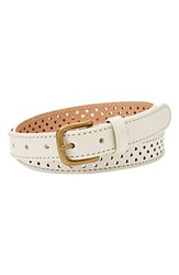 Women's Fossil Perforated Leather Belt
