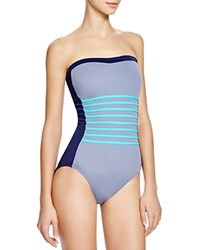 Dkny A Lister Bandeau One Piece Swimsuit Currant