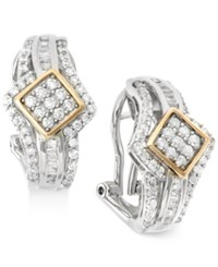 Wrapped In Love Diamond J Hoop Earrings 1 Ct. T.W. In 14K Gold And Sterling Silver No Color