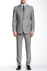 English Laundry Two Button Notch Lapel 3 Piece Wool Suit Gray