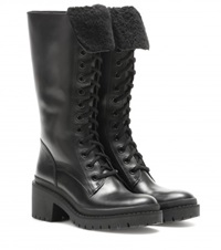 Marc By Marc Jacobs Leigh Army Leather Boots Black